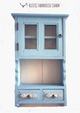 Country Blue Wall Cabinet