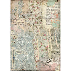 WALLPAPER Rice Paper by Stamperia (A4) - Rustic Farmhouse Charm