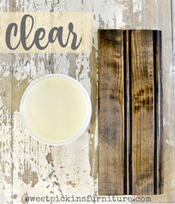 CLEAR Beeswax Furniture Polish 7oz (198g)