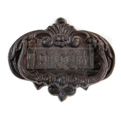 Redesign Cast Iron Door Knocker - WELCOME TO OUR HOME 16.8cm x 13.2cm