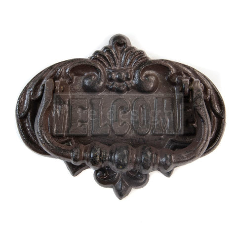 Redesign Cast Iron Door Knocker - WELCOME TO OUR HOME 16.8cm x 13.2cm - Rustic Farmhouse Charm