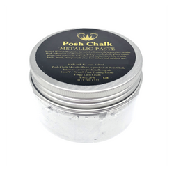 WHITE TITANIUM Smooth Metallic Paste by Posh Chalk (110ml)