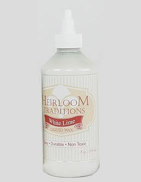 WHITE LIME Liquid Wax 8oz (226g) by Heirloom Traditions Paint