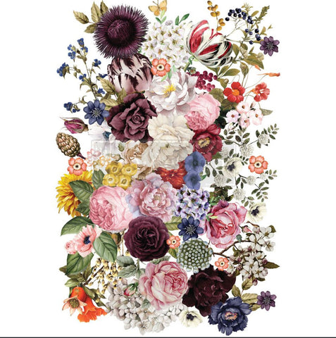 Redesign Transfer - WONDROUS FLORAL 87.25cm x 56.13cm - Rustic Farmhouse Charm
