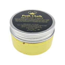 YELLOW CANARY CADMIUM Smooth Metallic Paste by Posh Chalk (110ml)