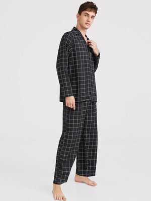 Plaid Pajamas Set