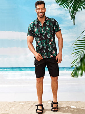 Flamingo Tropical Short Sleeve Shirt