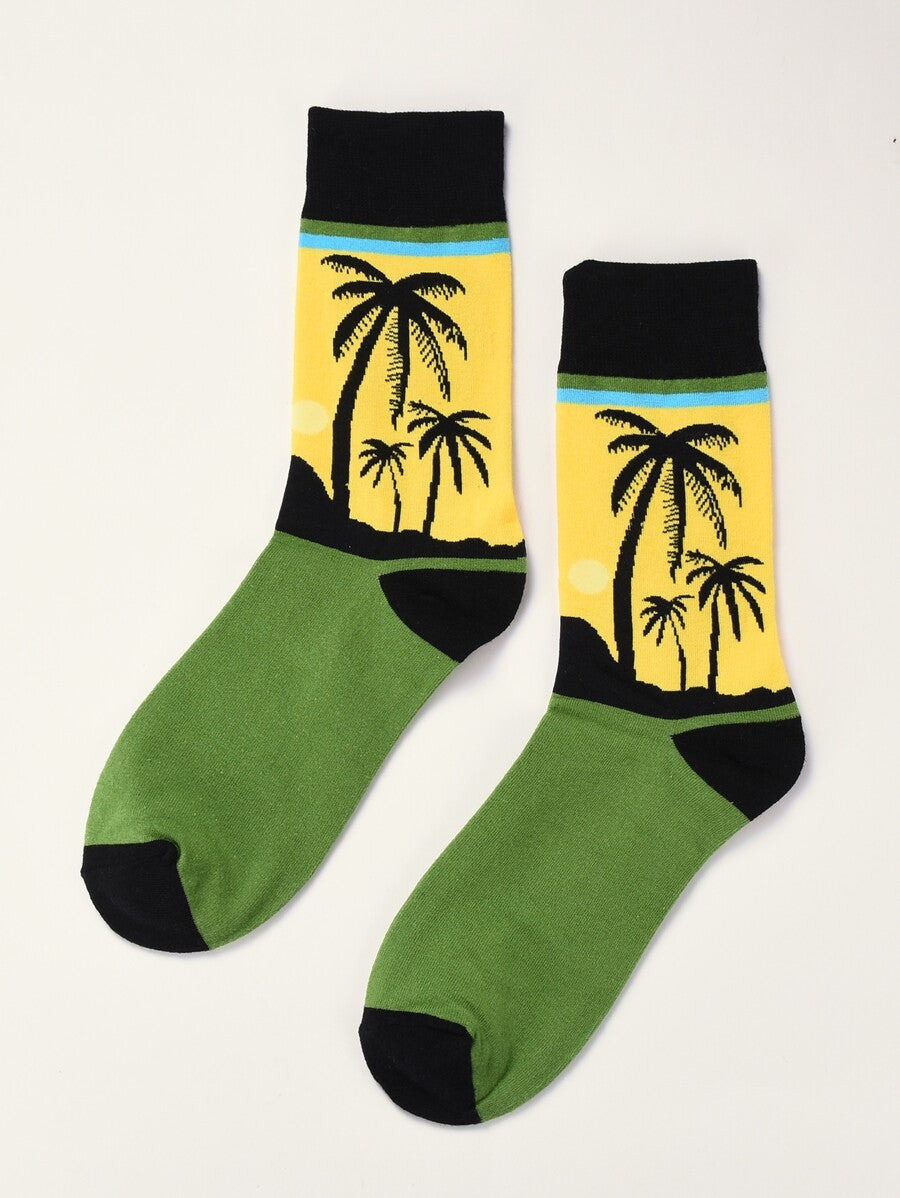 Coconut Tree Design Socks