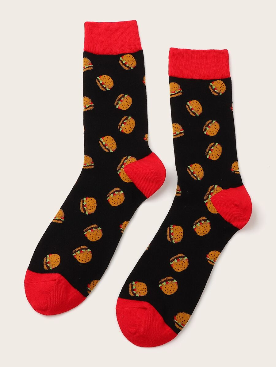 Hamburger Design Socks