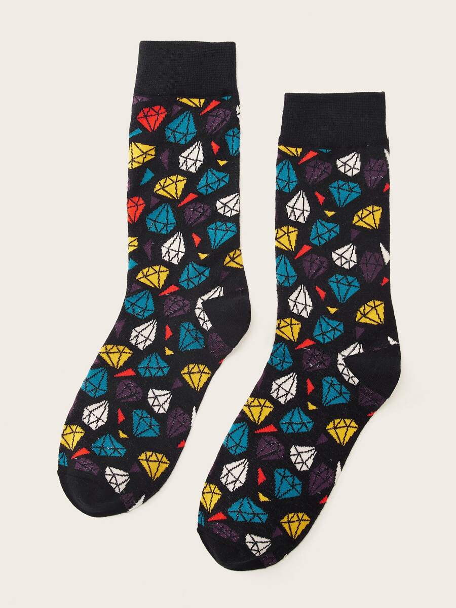 Diamond Design Socks