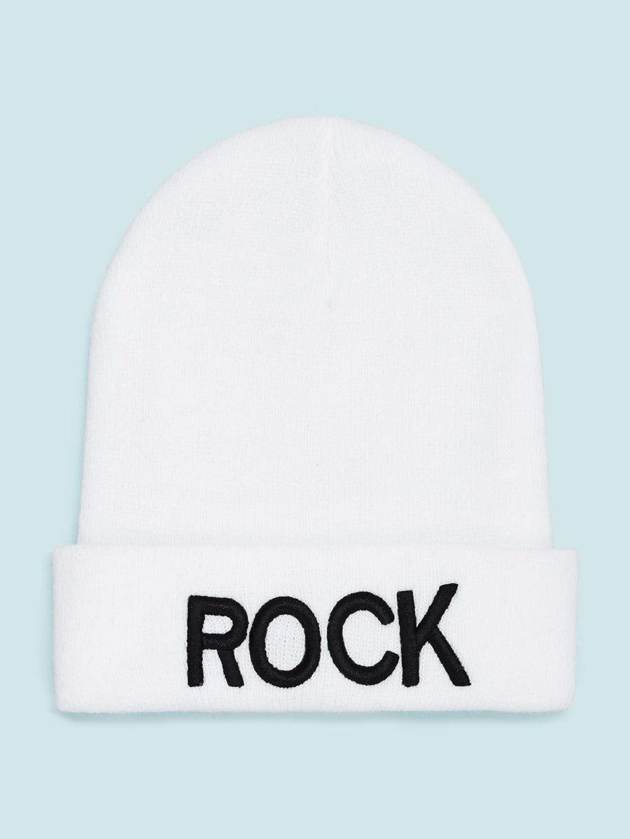 Rock Knit Cuff Beanie Hat
