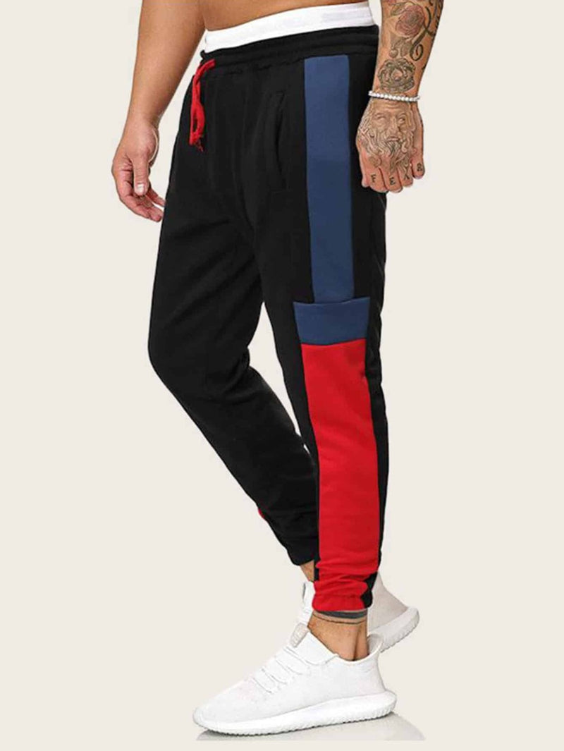 Contrast Panel Sweatpants