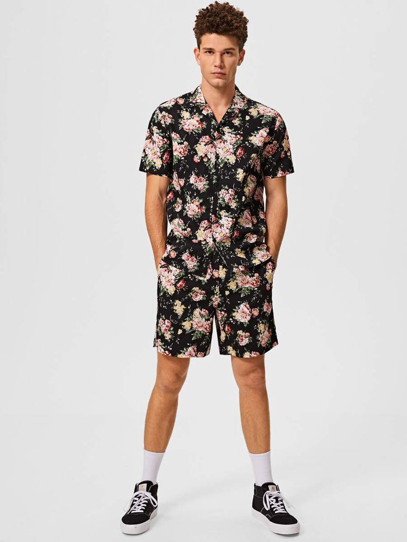 Floral Shirt & Shorts Set