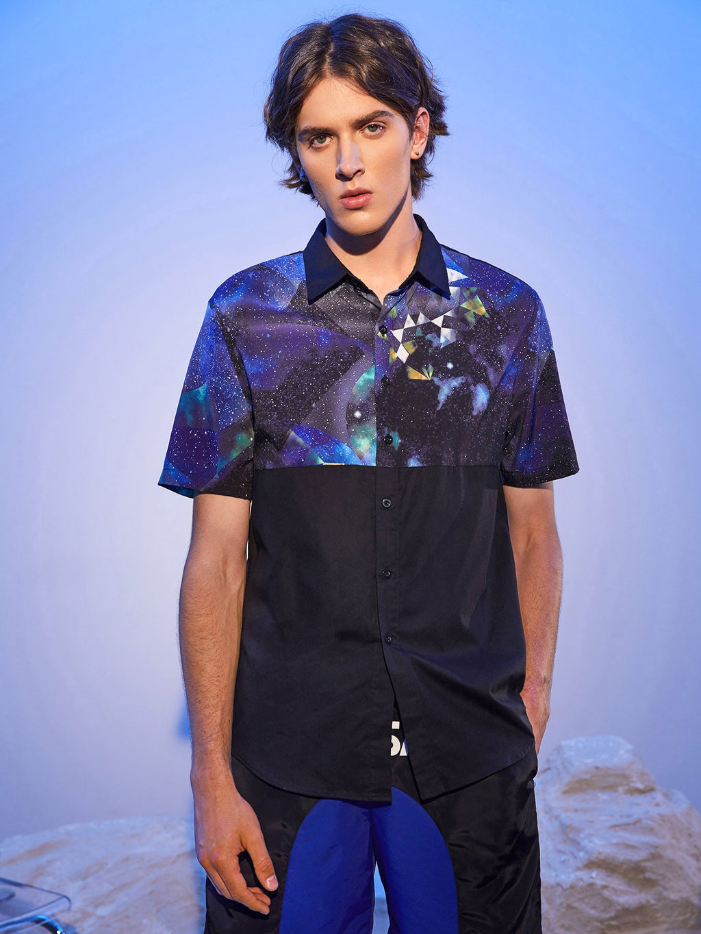 Galaxy Block Short Sleeve Shirt - This Is For Him