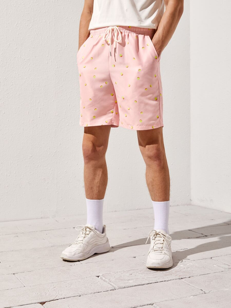 Pink Dotted Shorts