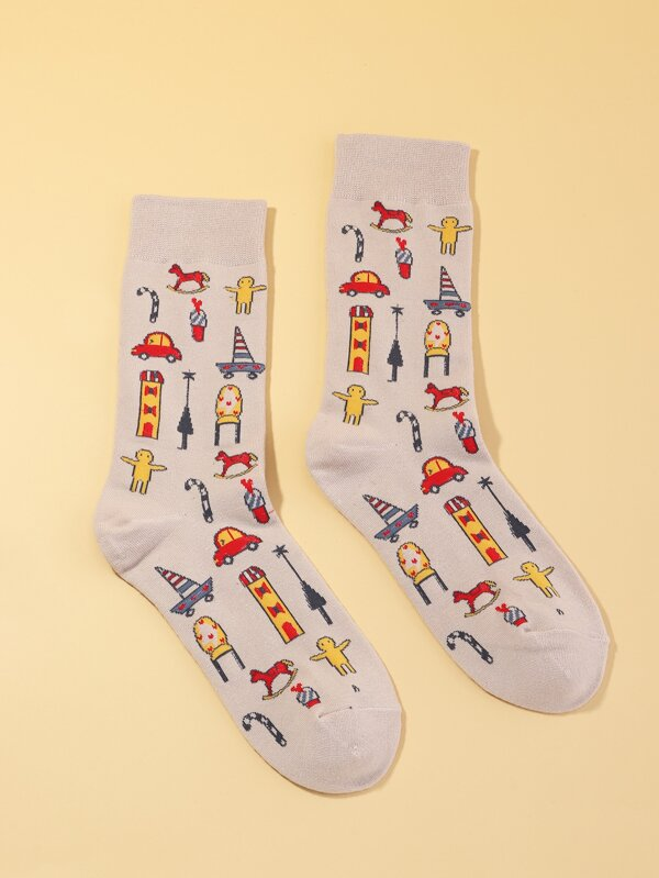 Cartoon Doodles Socks