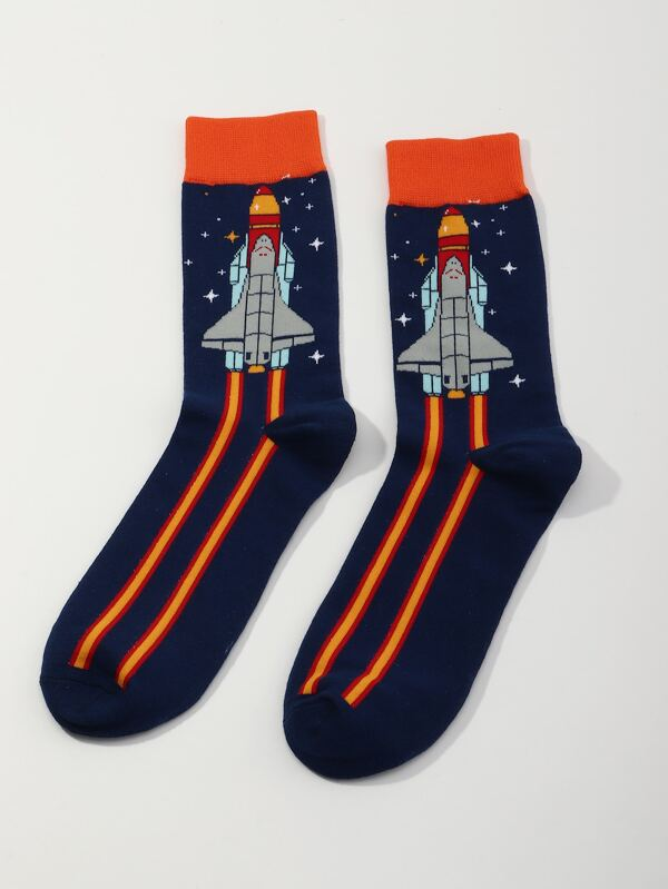 Rocket Spaceship Socks