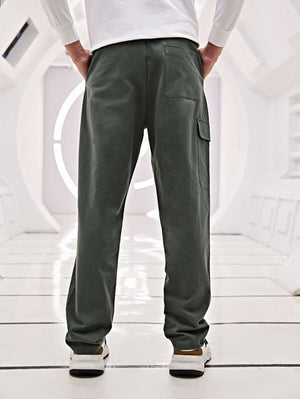 Dark Grey Pocket Buckle Cargo Pants 2
