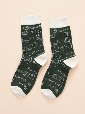 Mathematics Formula Socks