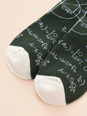 Mathematics Formula Socks 3