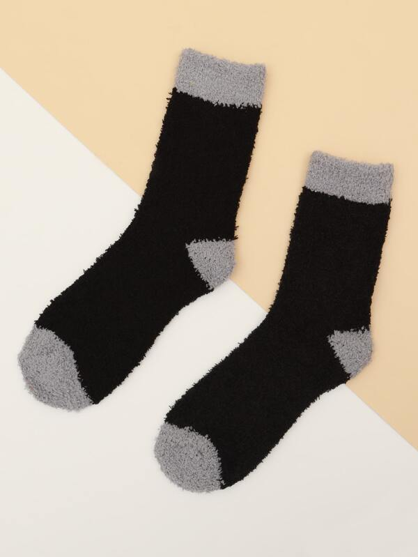 Black Fuzzy Socks