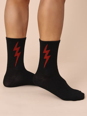 Black Lightning Socks 5