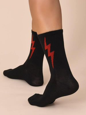Black Lightning Socks 3