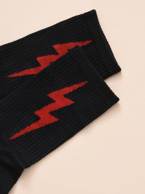 Black Lightning Socks 4