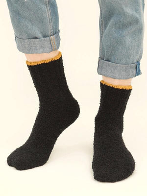 Black Fuzz Socks 4