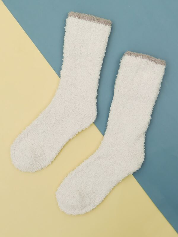 White Fuzz Socks