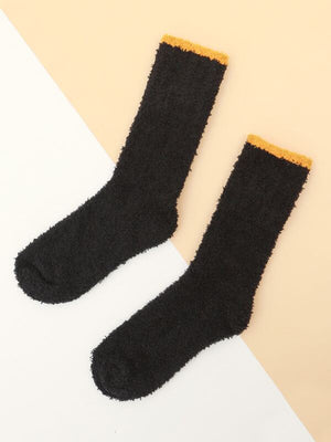 Black Fuzz Socks