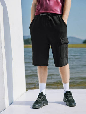 Drawstring Black Shorts