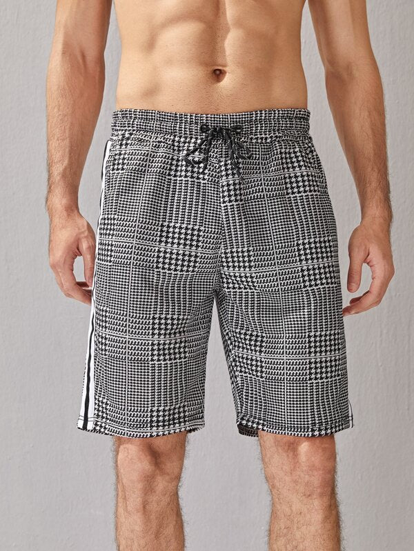 Plaid And Houndstooth Shorts
