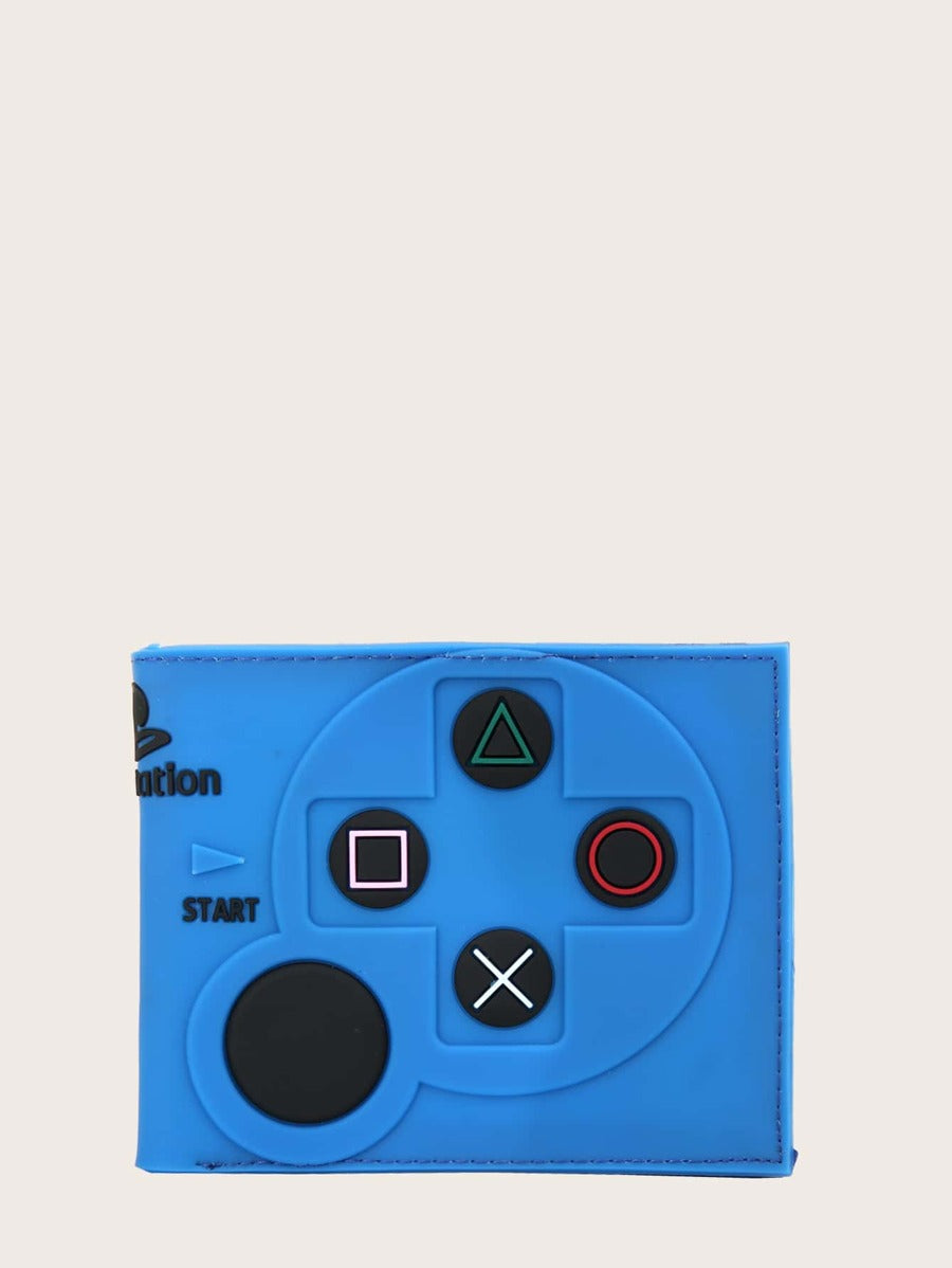 Game Controller Style Wallet in Blue Color