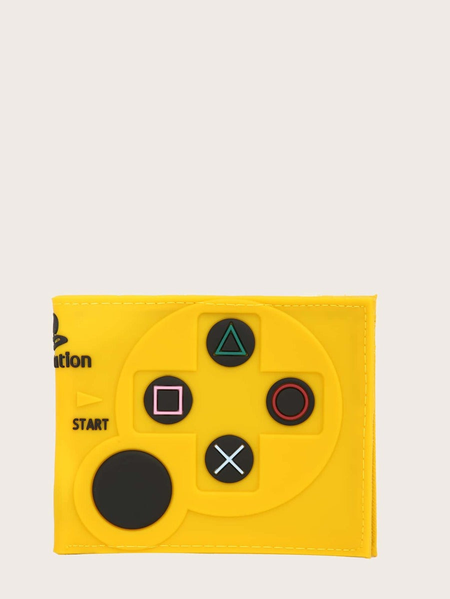 Game Controller Style Wallet in Yellow Color