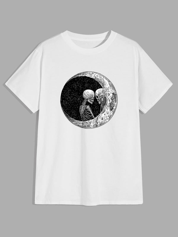 Skeleton and Moon T-Shirt