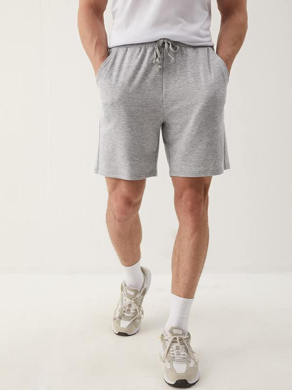 Casual Grey Track Shorts