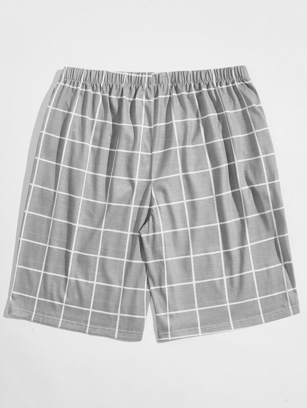 Grey Plaid Shorts