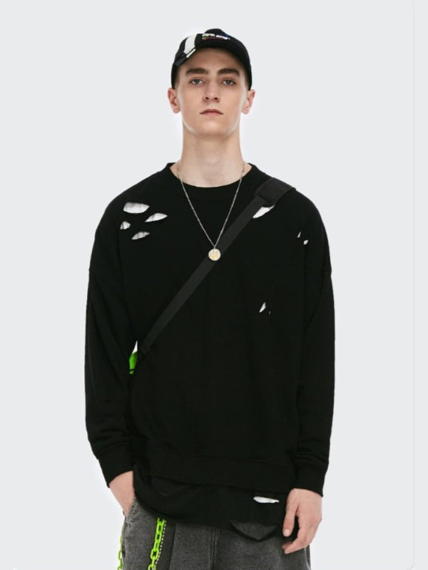 Ripped Sweatshirt Black