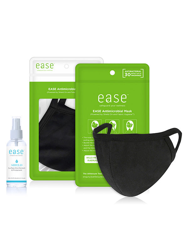 Ease Care Pack -  Antimicrobial Mask + Shield On Spray (Adults & Kids Sizes)