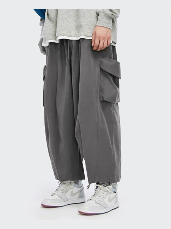 Baggy Cargo Pants Dark Grey
