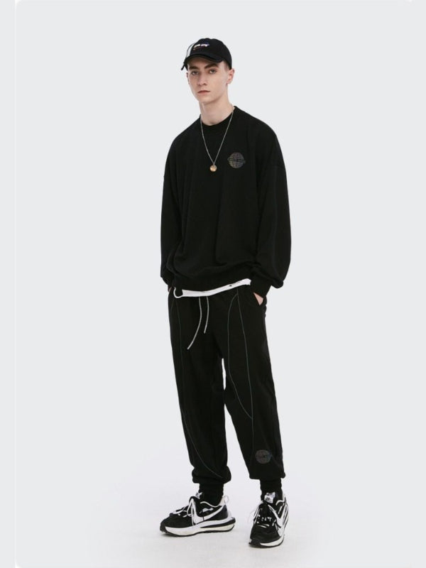 """Earth Song"" Sweatshirt and Sweatpants Black"