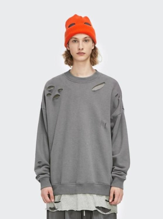 Ripped Sweatshirt Charcoal
