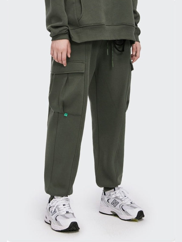 Fleece Sweatpants Charcoal Green