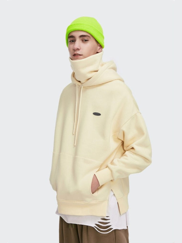 Thick Fleece Hoodie Apricot
