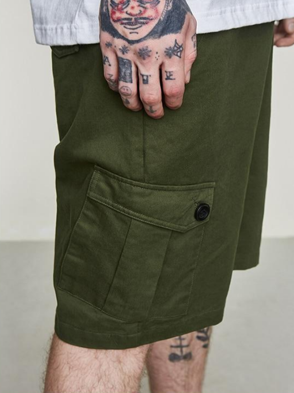 Army Green Cargo Shorts - This Is For Him