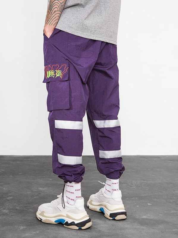 Flourescent Windbreaker Pants - This Is For Him