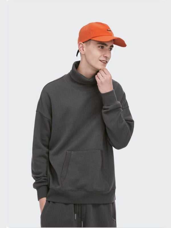 Turtleneck Sweatshirt Dark Grey