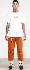 Military Style Cargo Pants in Orange Color