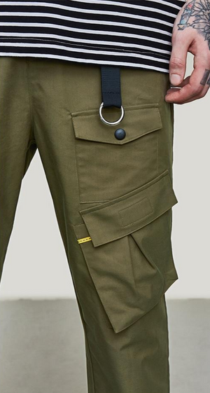 Multi-Pocket Cargo Pants in Army Green Color